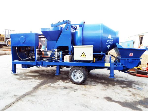 concrete mixer with pump