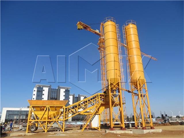 Mini Mobile Concrete Mixing Plant Price